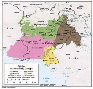 Carte population Pakistan