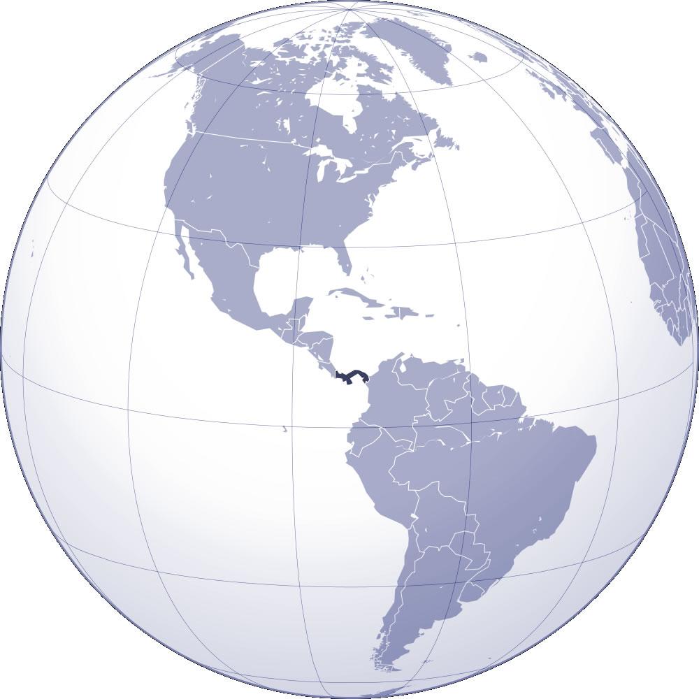 panama carte du monde-