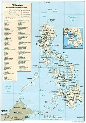 Ancienne carte Philippines