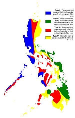 Carte climat Philippines