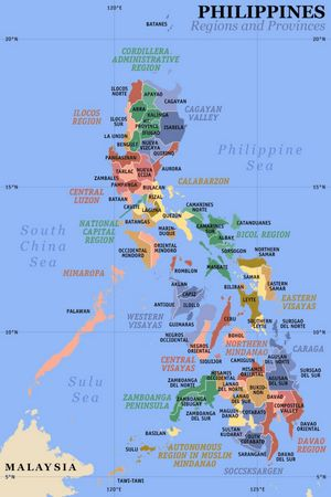 Carte départements Philippines
