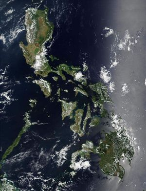 Carte satellite Philippines