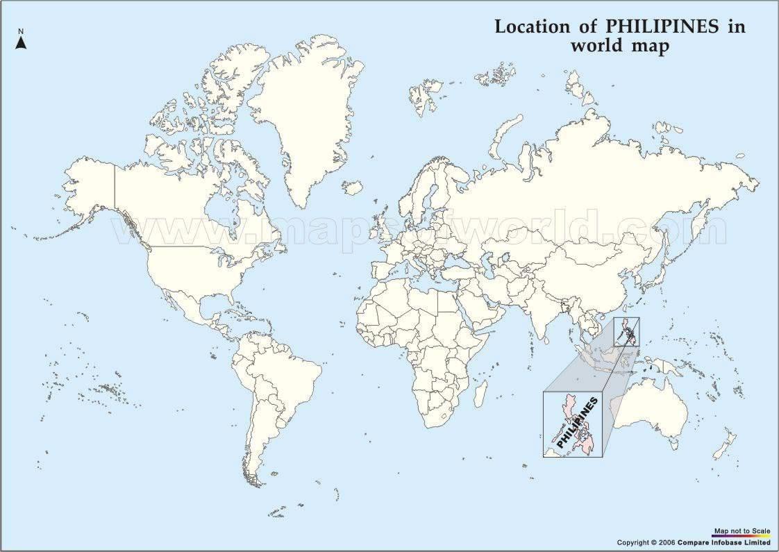 Situer Philippines sur carte du monde, Situer pays de Philippines