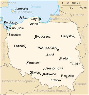 Carte Du Monde Pologne.Carte Des Villes Pologne Carte Des Villes De Pologne