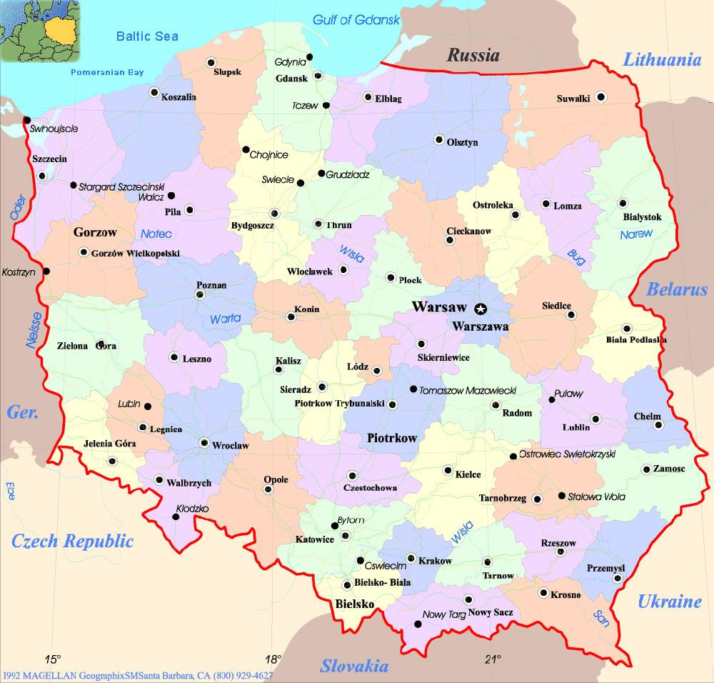 Carte Du Monde Pologne.Pologne Pologne