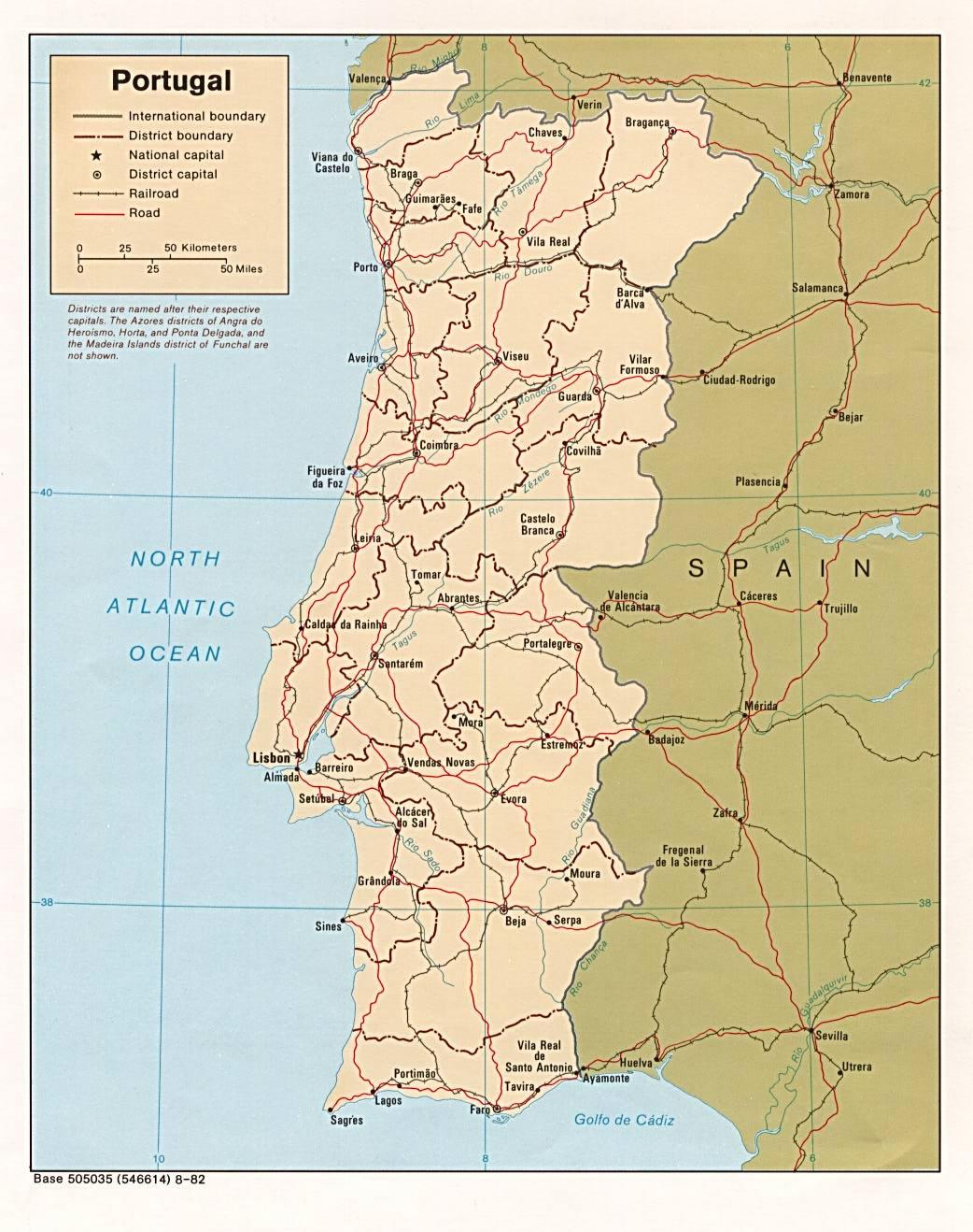 Carte Portugal Carte Du Portugal