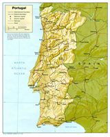 Carte relief Portugal