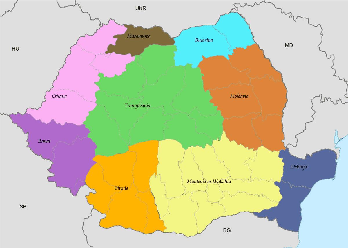 Carte roumanie vierge couleur carte vierge de roumanie en couleur - Carte du monde en couleur ...