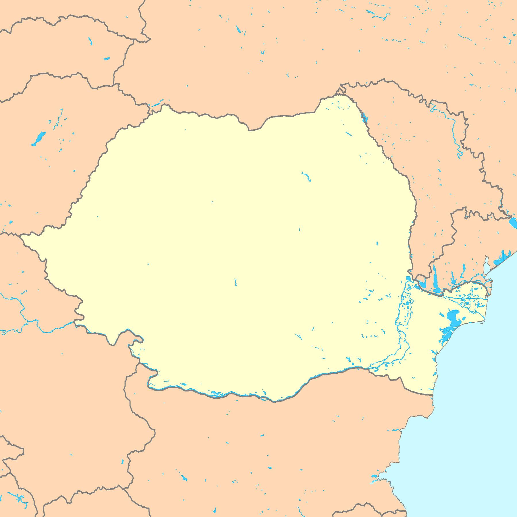 Roumanie Carte De Capital