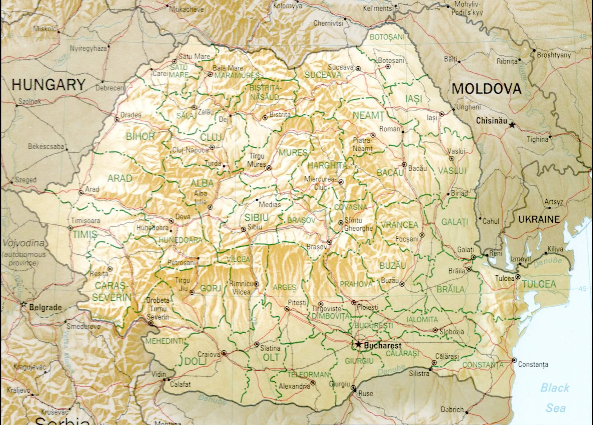 Carte Roumanie Villes.Carte Des Villes Roumanie Carte Des Villes De Roumanie