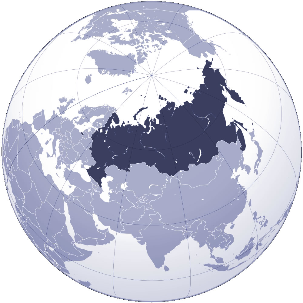 russie sur la carte du monde - Photo