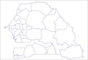 Carte Senegal Vierge.Carte Senegal Carte De Senegal