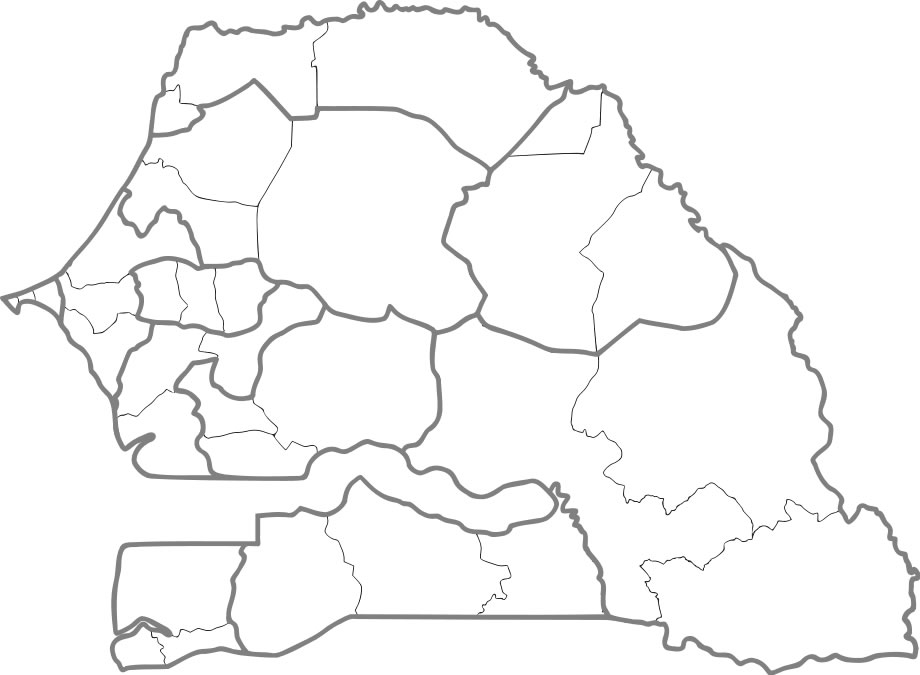 Carte Senegal Vierge.Carte Senegal Vierge Regions Carte Vierge Des Regions De