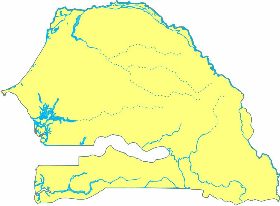 Carte Senegal Vierge.Carte Senegal Riviere Vierge Carte Vierge Des Riviere De