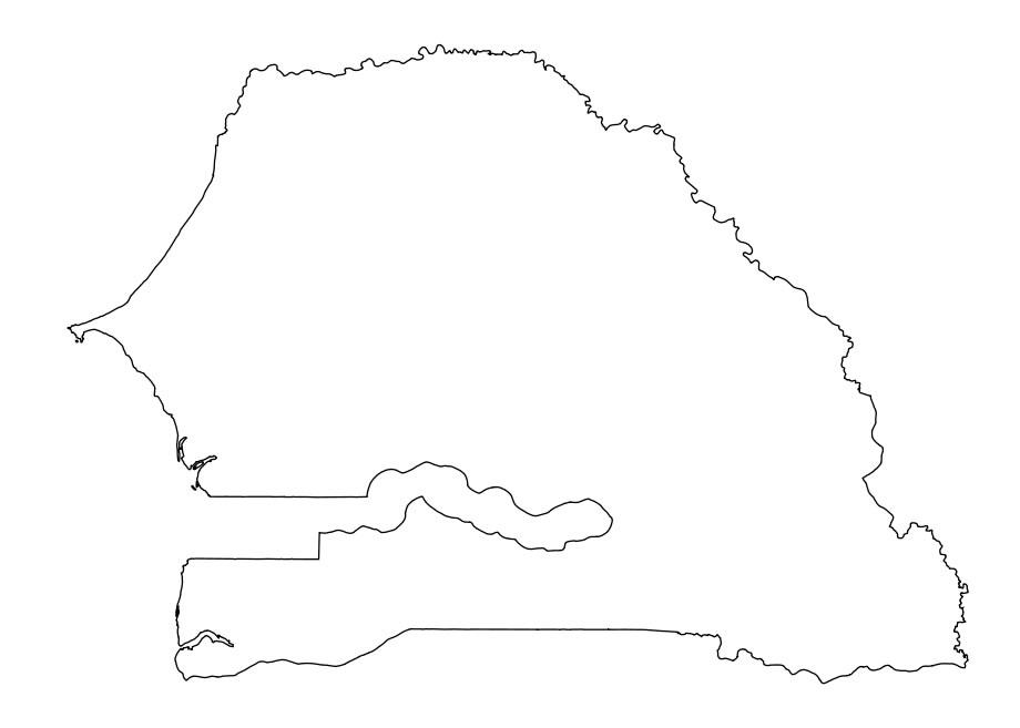 Carte Senegal Vierge.Carte Senegal Vierge Carte Vierge De Senegal