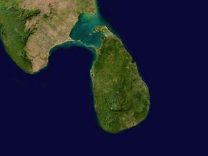 Carte satellite Sri Lanka