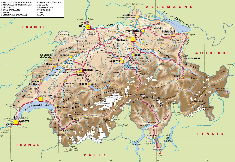 suisse-carte-detaillee