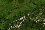 Carte satellite Suisse