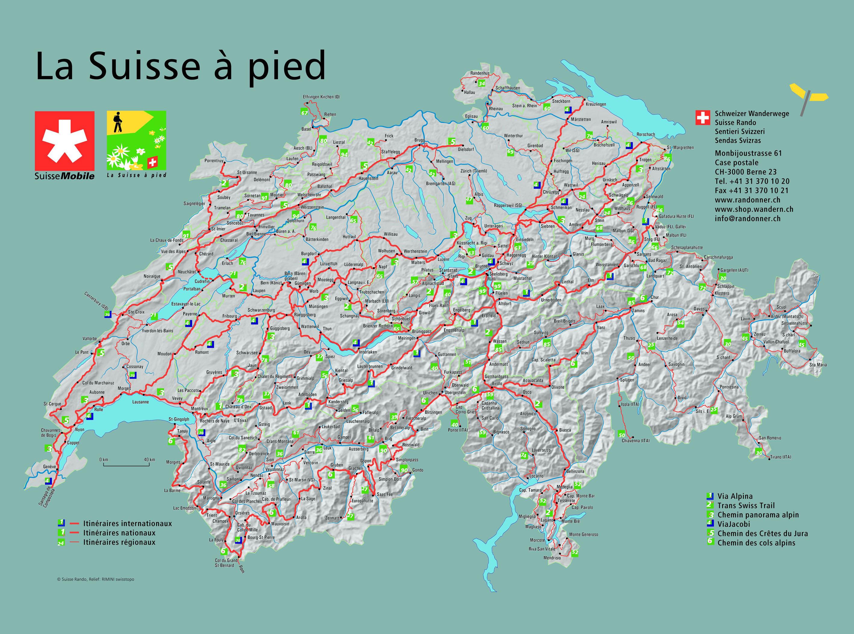 Carte touristique suisse vacances arts guides voyages for Carte touristique