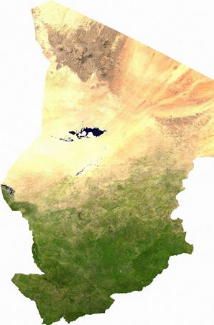 Carte satellite Tchad
