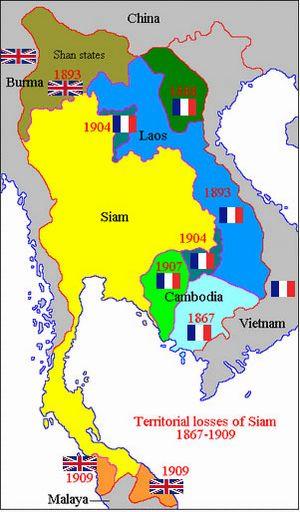 Carte Thaïlande vierge couleur, Carte vierge de Thaïlande en