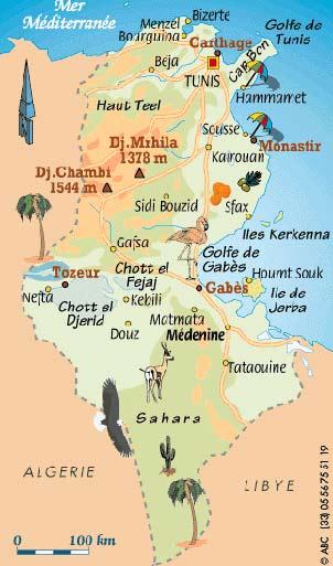 Carte Postale Tunisie Carte Postale De La Tunisie