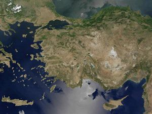 Carte satellite Turquie