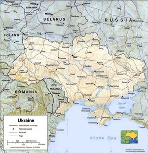 Carte relief Ukraine