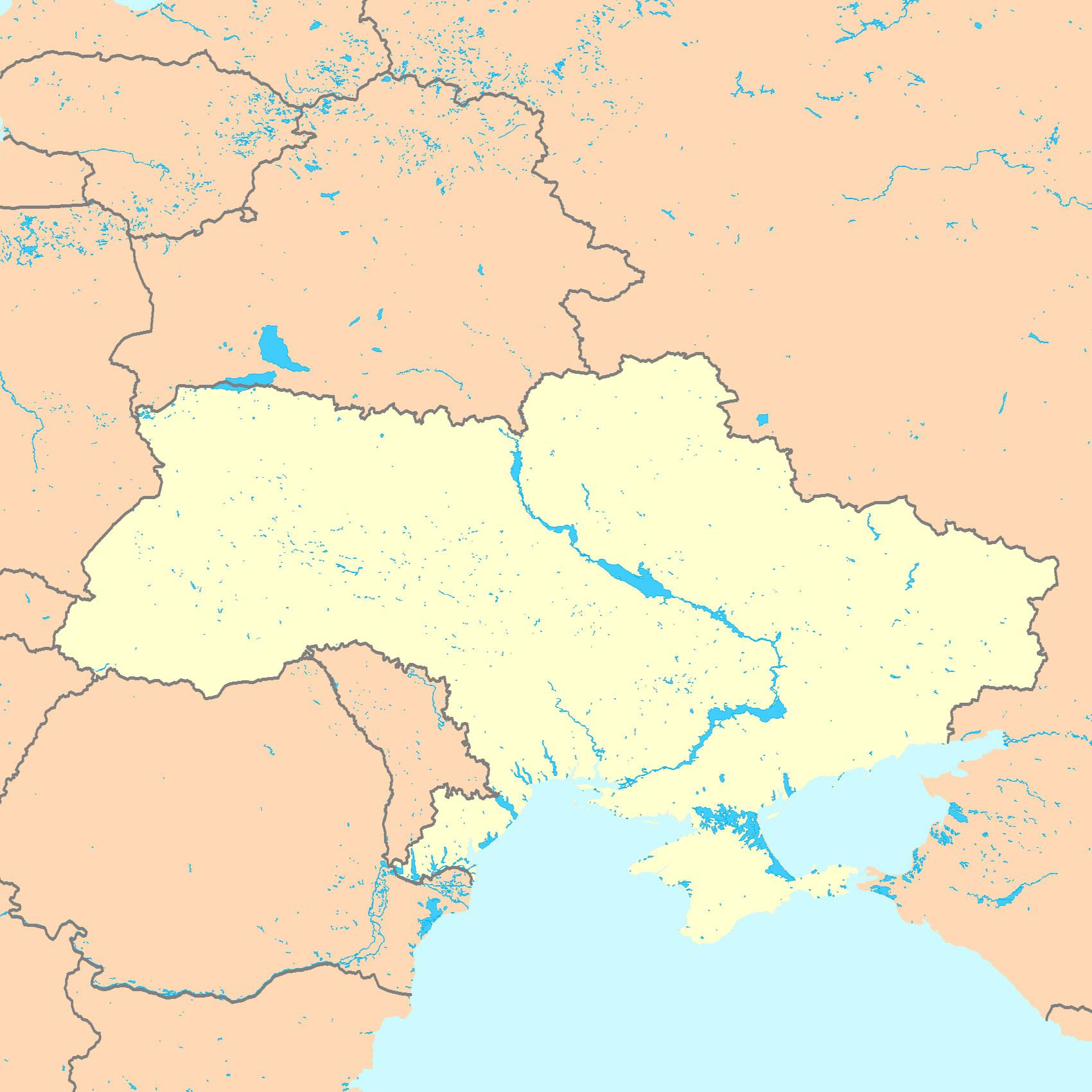 Ukraine Carte Du Monde.Carte Ukraine Vierge Carte Vierge De Ukraine
