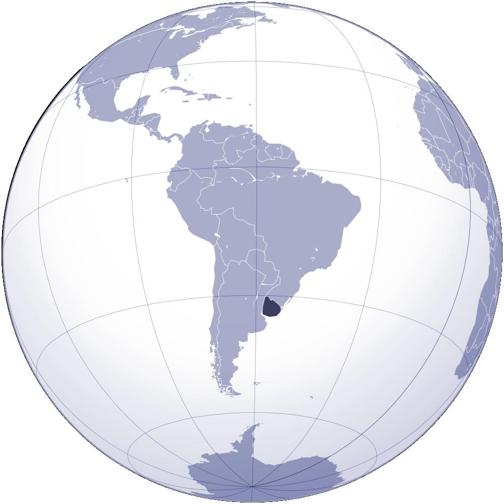 Carte Amerique Latine Uruguay.Localiser Uruguay Sur Carte Du Monde Localiser Pays De L Uruguay