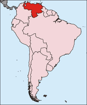 venezuela sur la carte du monde