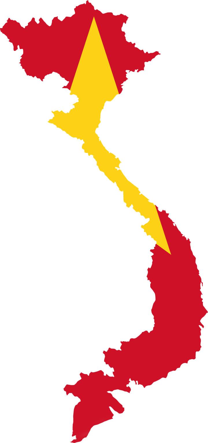 Carte drapeaux de Viêt Nam